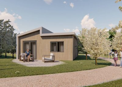 Artist impression tiny houses Oud-Beijerland