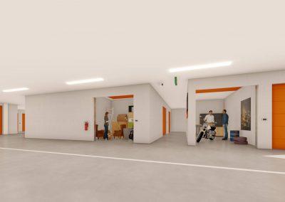 Artist impression Garageboxen